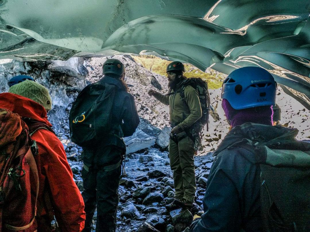 Elliot guiding ice caves