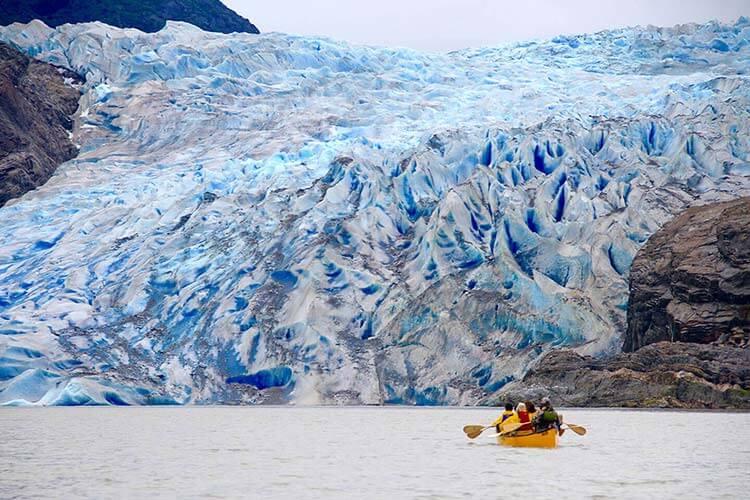 Canoe glacier paddle