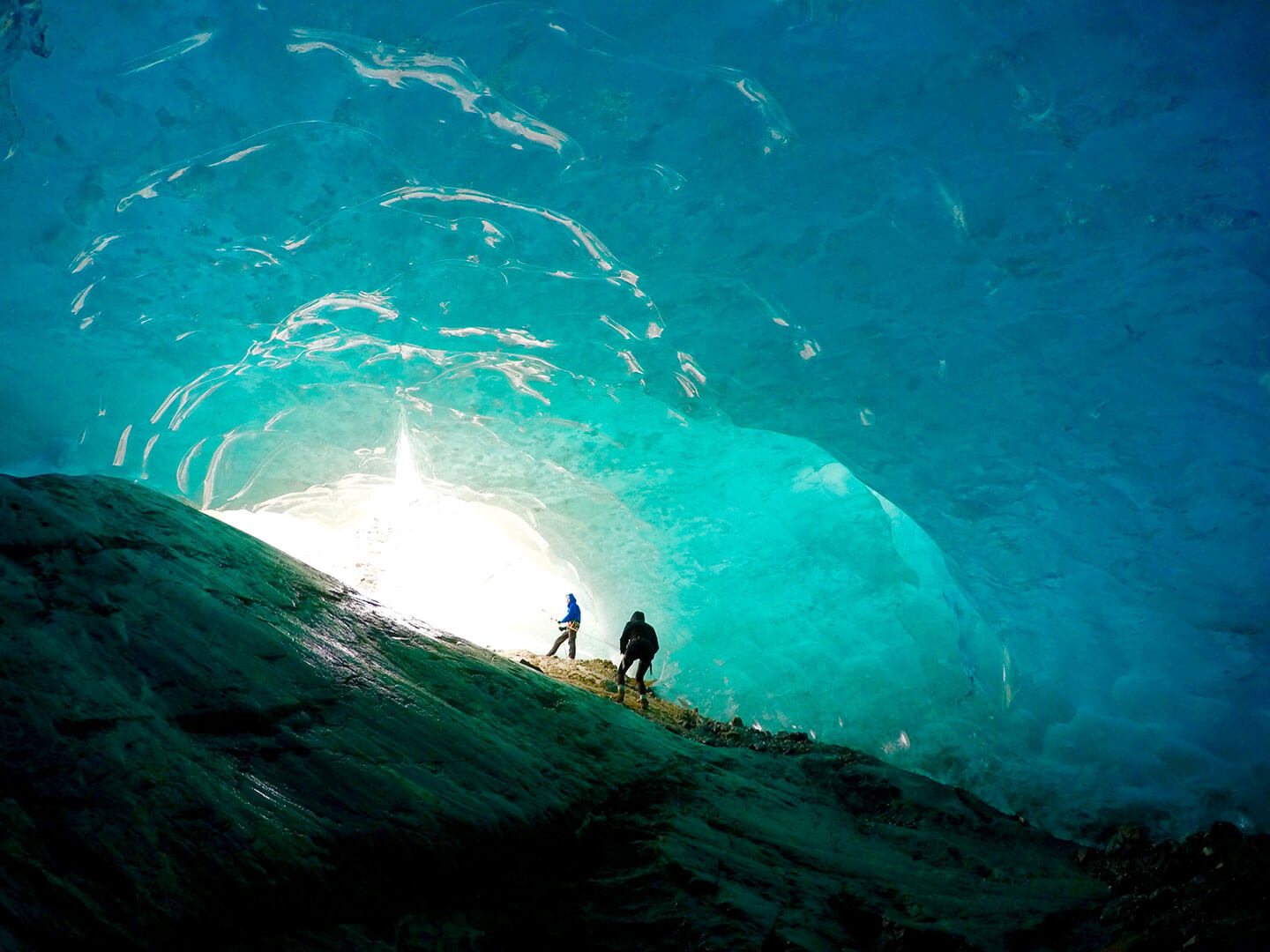 Glacier Blue Ice Cave